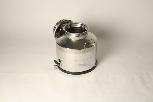 Бидон из нержавеющей стали 25 литров со сварным дном