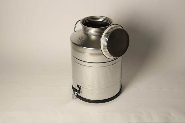 Бидон из нержавеющей стали 75 литров со сварным дном